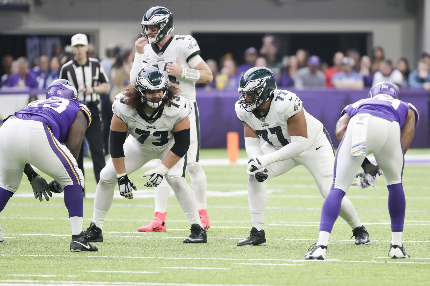 Eagles' Jason Peters is 'week-to-week' with knee injury, so rookie Andre Dillard is next up