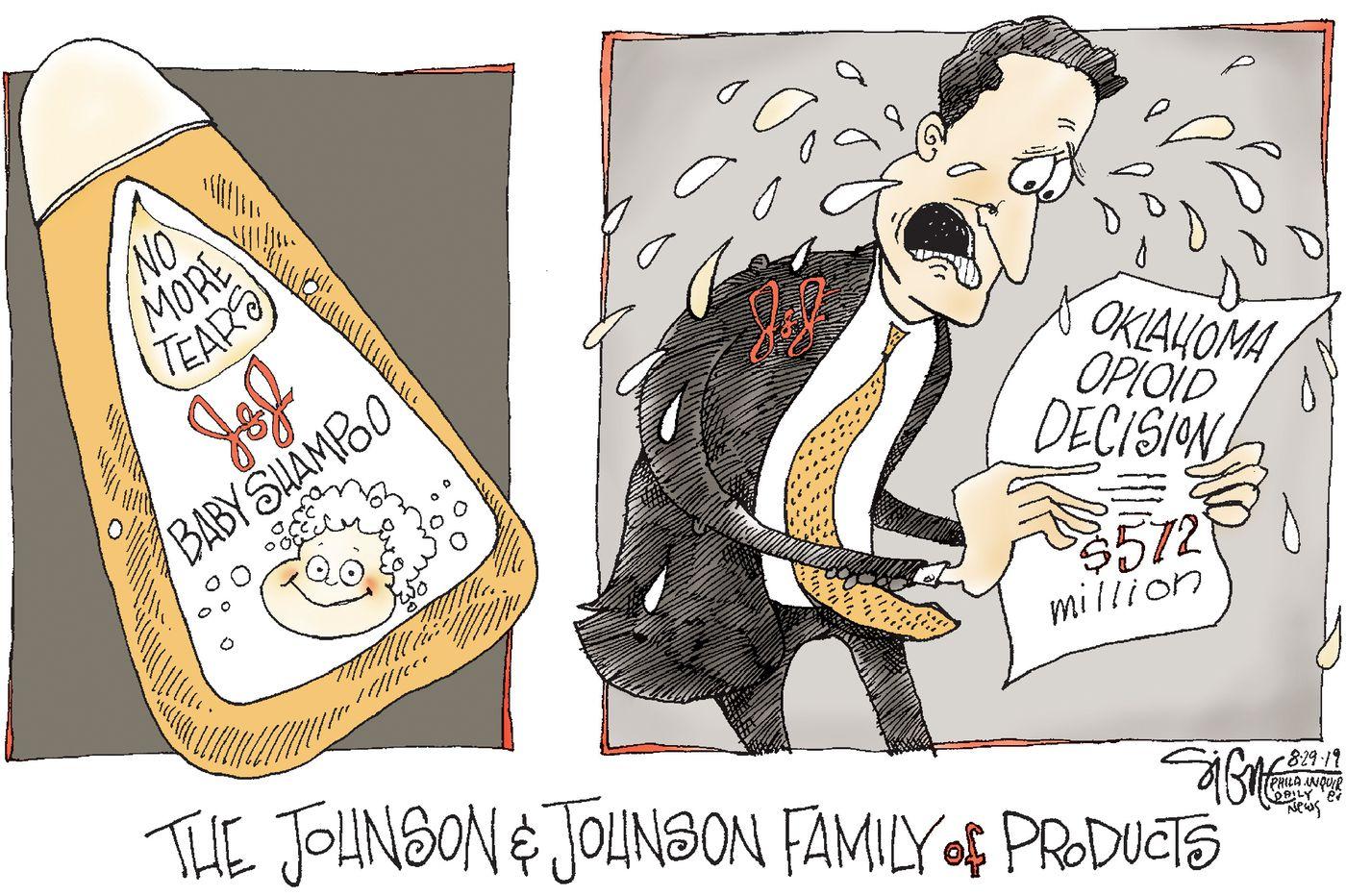 Political Cartoon: The no-tears Johnson & Johnson opioid settlement