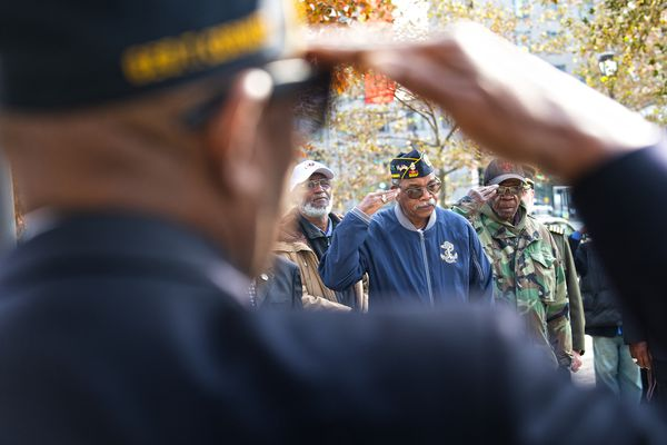 A solemn ceremony to honor veterans