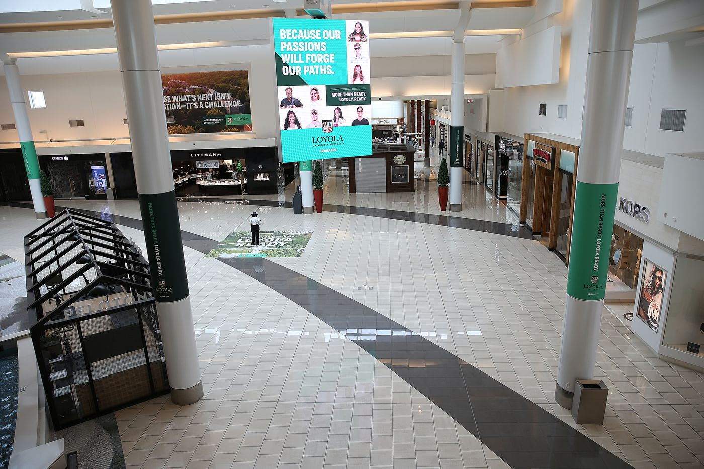 A nearly empty Cherry Hill Mall in Cherry Hill, NJ on March 17, 2020. Although the mall was still open many stores closed due to the coronavirus outbreak.