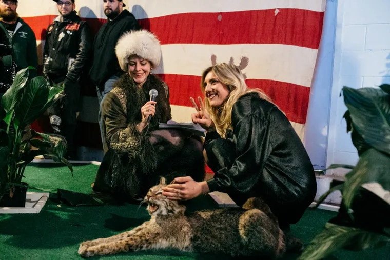 Alexandra Roth and host Beth Beverly at the second annual Philadelphia Alt taxidermy competition.