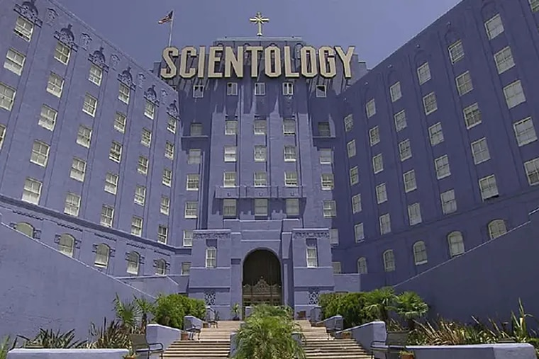 """The church's headquarters building in Los Angeles. """"Going Clear,"""" from Alex Gibney, relies on Lawrence Wright's book of the same name. (HBO)"""