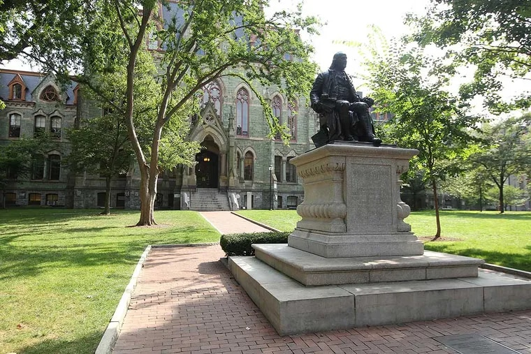 Benjamin Franklin at the University of Pennsylvania's Locust Walk in August 2013. Penn professor Jonathan Zimmerman wonders what students returning to campus in 2021 are coming back for.