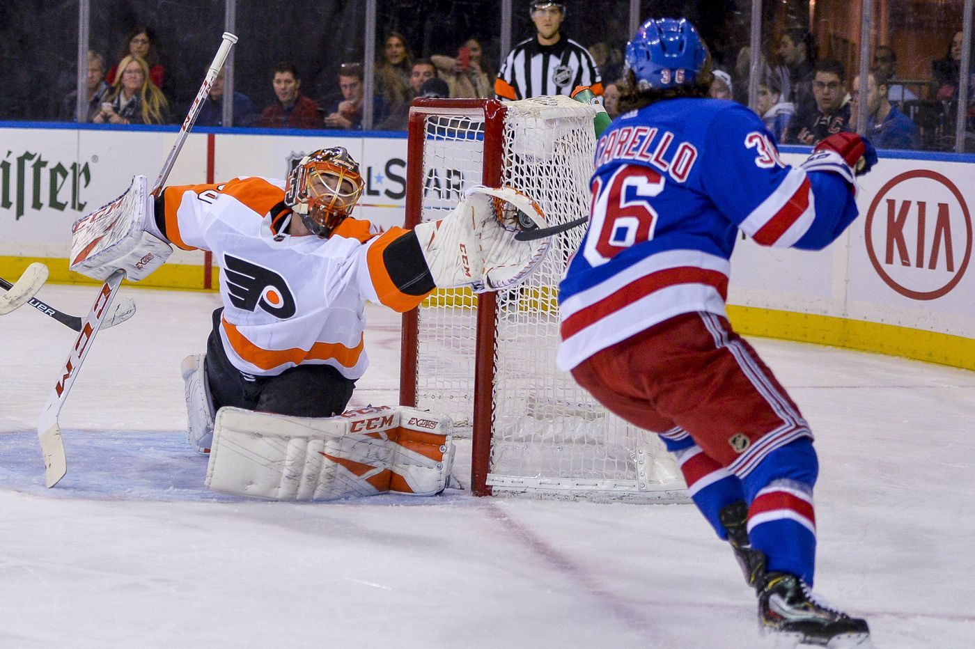 Michal Neuvirth impressive in goal as Flyers beat Rangers in shootout