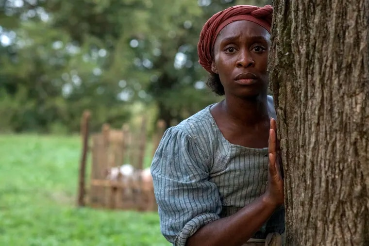 """This image released by Focus Features shows Cynthia Erivo as Harriet Tubman in a scene from the film """"Harriet,"""" which opens nationally Nov. 1"""