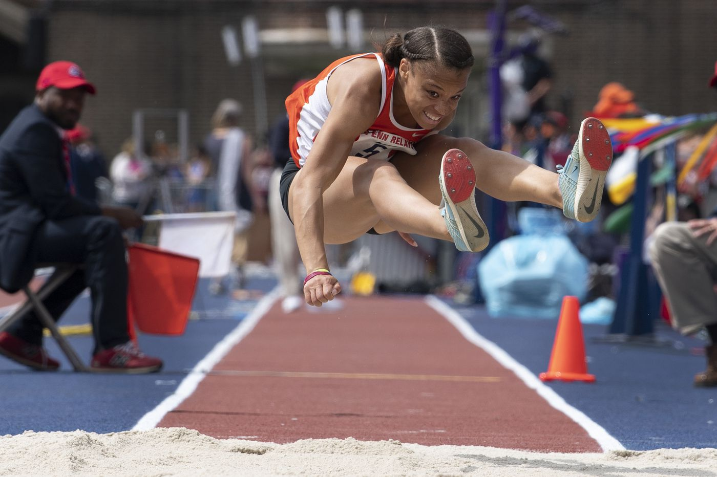 Penn Relays: Perkiomen Valley's Christina Warren pulls off triple-jump three-peat