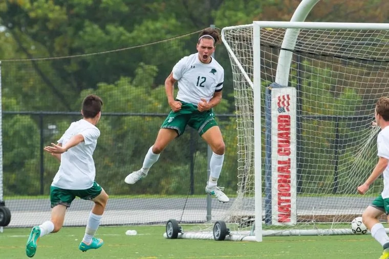 Andrew Markopolous scores the game-tying goal in Bonner's playoff-clinching win over Bishop McDevitt.