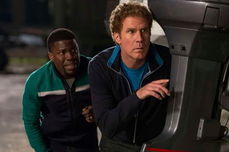 """Kevin Hart (left) as Darnell and WIll Ferrell as James in """"Get Hard."""""""