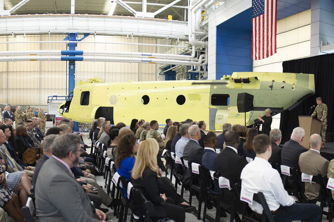 Boeing upgrades Chinooks at Delco plant in 100-year program