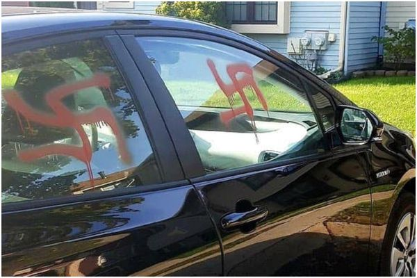 Days after Pittsburgh killings, swastikas appear on Montgomery County couple's car