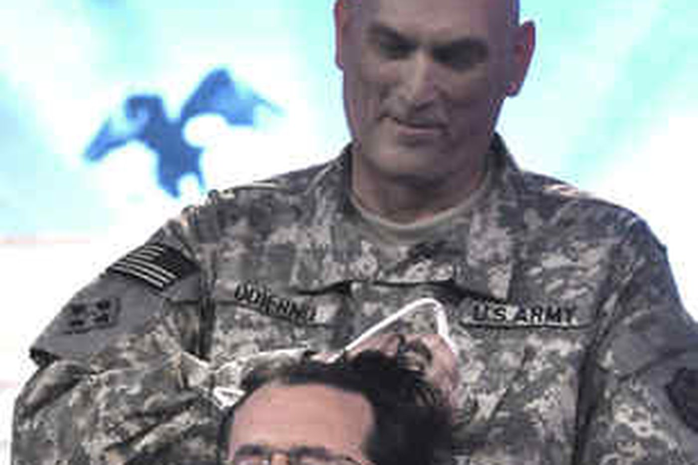 Sideshow: Colbert hair takes one for the troops
