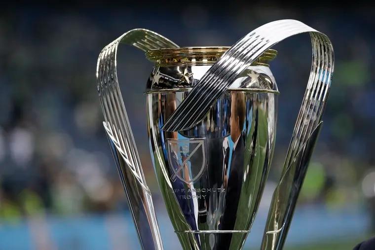 The MLS Cup trophy.