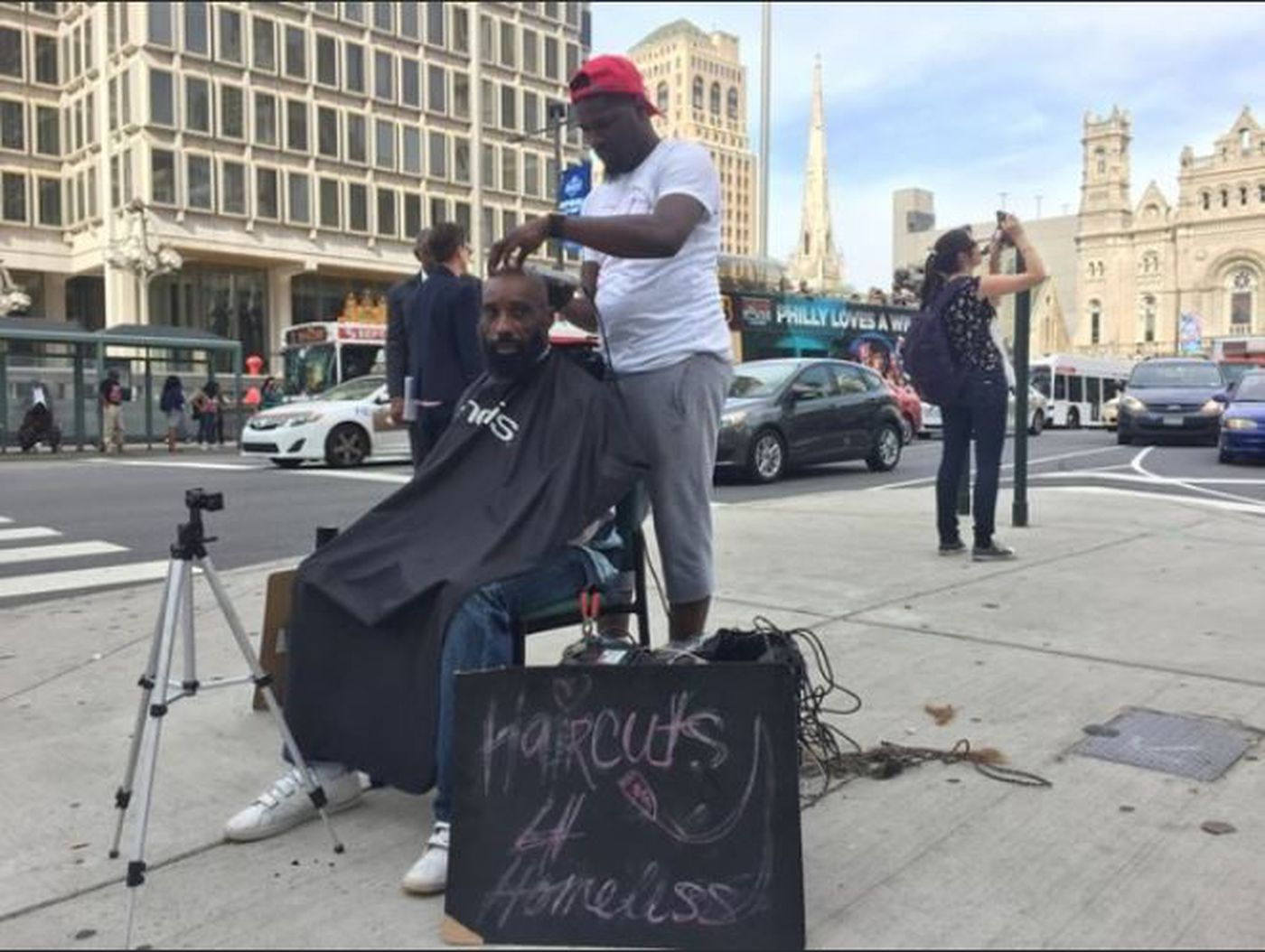 Haircuts 11 Homeless barber opens shop gifted to him by a stranger