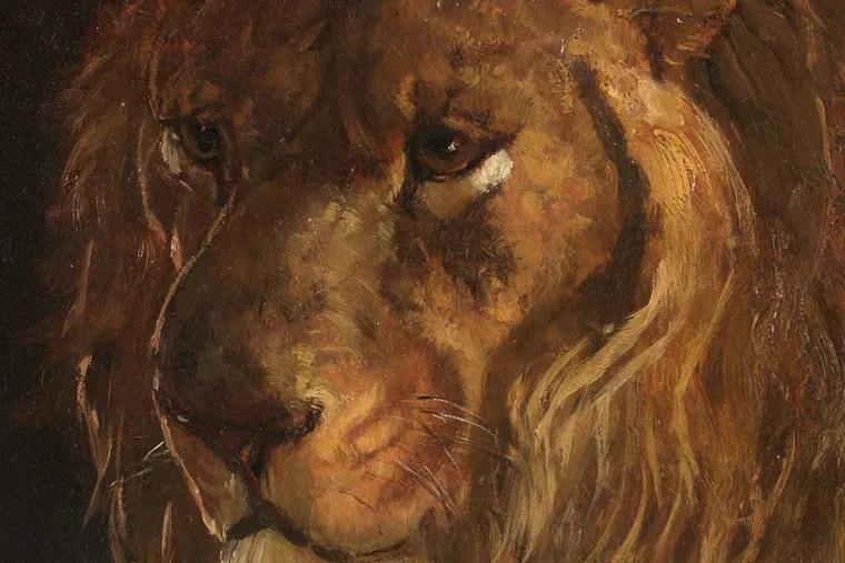 Henry Ossawa Tanner, Pomp at the Philadelphia Zoo, 1880-86, oil on artist's board. (Detail)