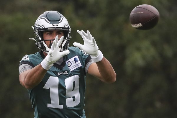 Eagles receiver J.J. Arcega-Whiteside sees his role diminish, but he's learning
