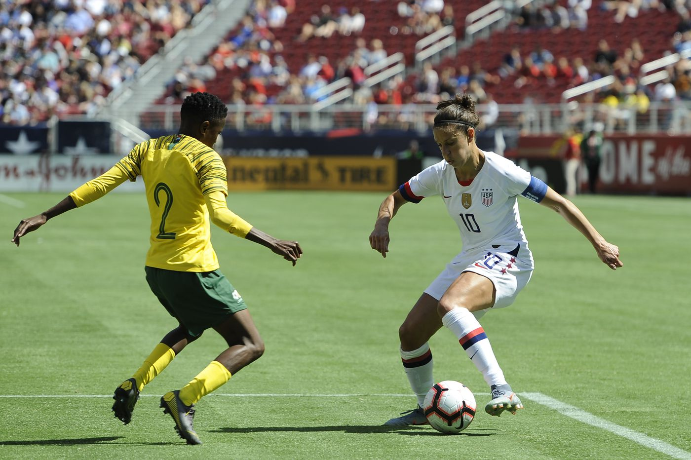 Samantha Mewis, Carli Lloyd score in USWNT's 3-0 win over South Africa in World Cup warmup