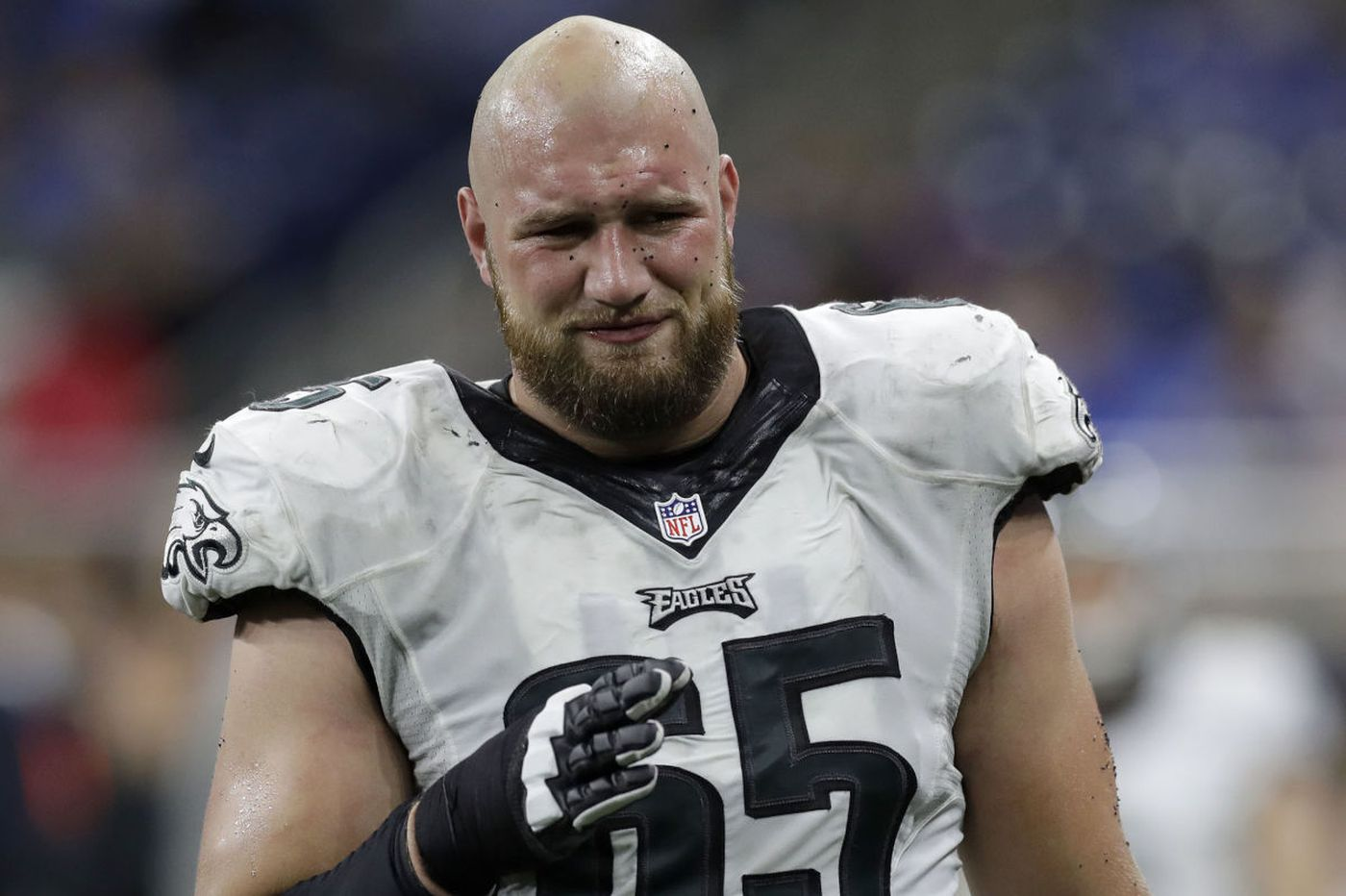 With Eagles' Lane Johnson starting, will Barbre go back to guard?