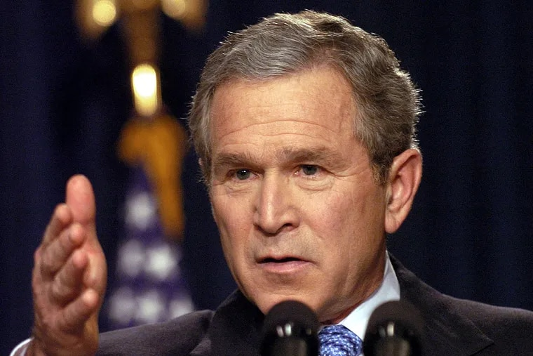KRT US NEWS STORY SLUGGED: BUSH KRT PHOTO BY GEORGE BRIDGES/KRT (December 15) WASHINGTON, DC -- President George W. Bush conducts a news conference on Monday, December 15, 2003, at the Eisenhower Executive Office Building which is adjacent to the White House. (gsb) 2003
