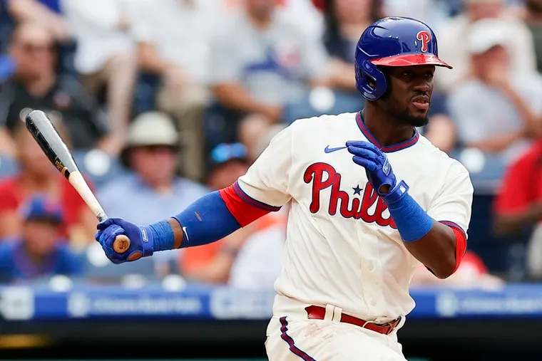 The Phillies' Odubel Herrera was inserted into the leadoff spot against the Diamondbacks on Wednesday.