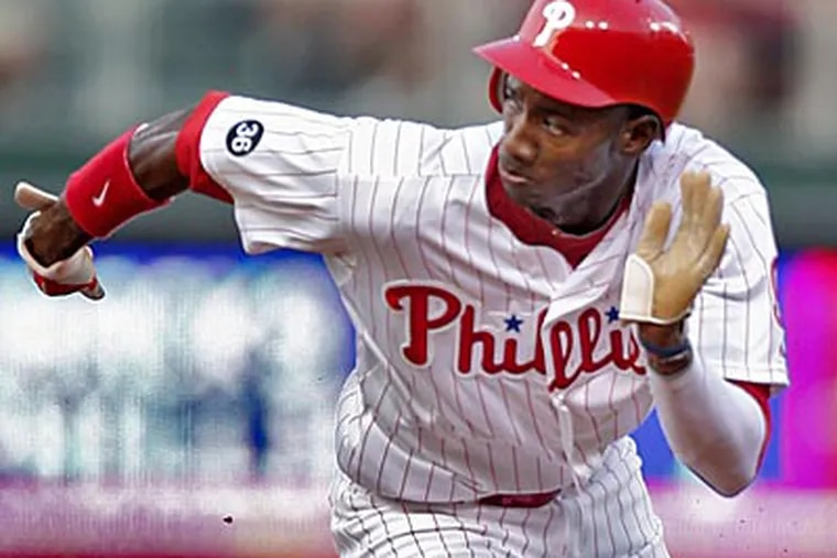 The departure of Jayson Werth has opened the door for Domonic Brown to be an everyday player in rightfield.  (David M Warren/Staff Photographer)