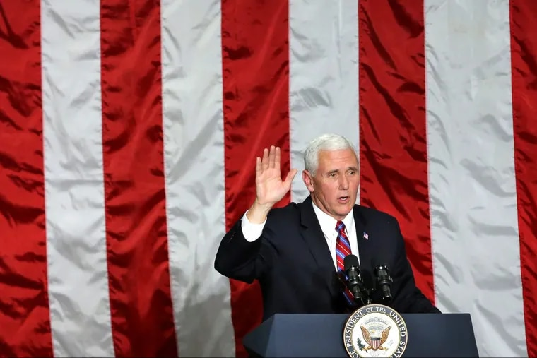 Vice President Pence thanks employees at the conclusion of his remarks at Correct Craft world headquarters in Orlando on Nov. 2.