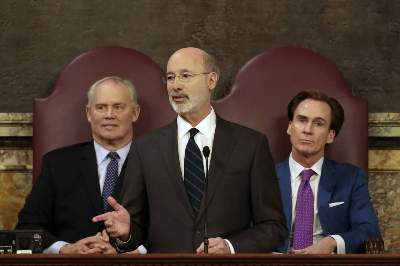 Gov. Wolf pitches new gift ban, campaign donation limits