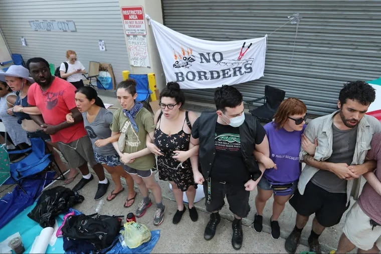 Protesters gathered and were arrested last year outside the Immigration and Customs Enforcement office in Center City, as they demanded the abolition of the agency.