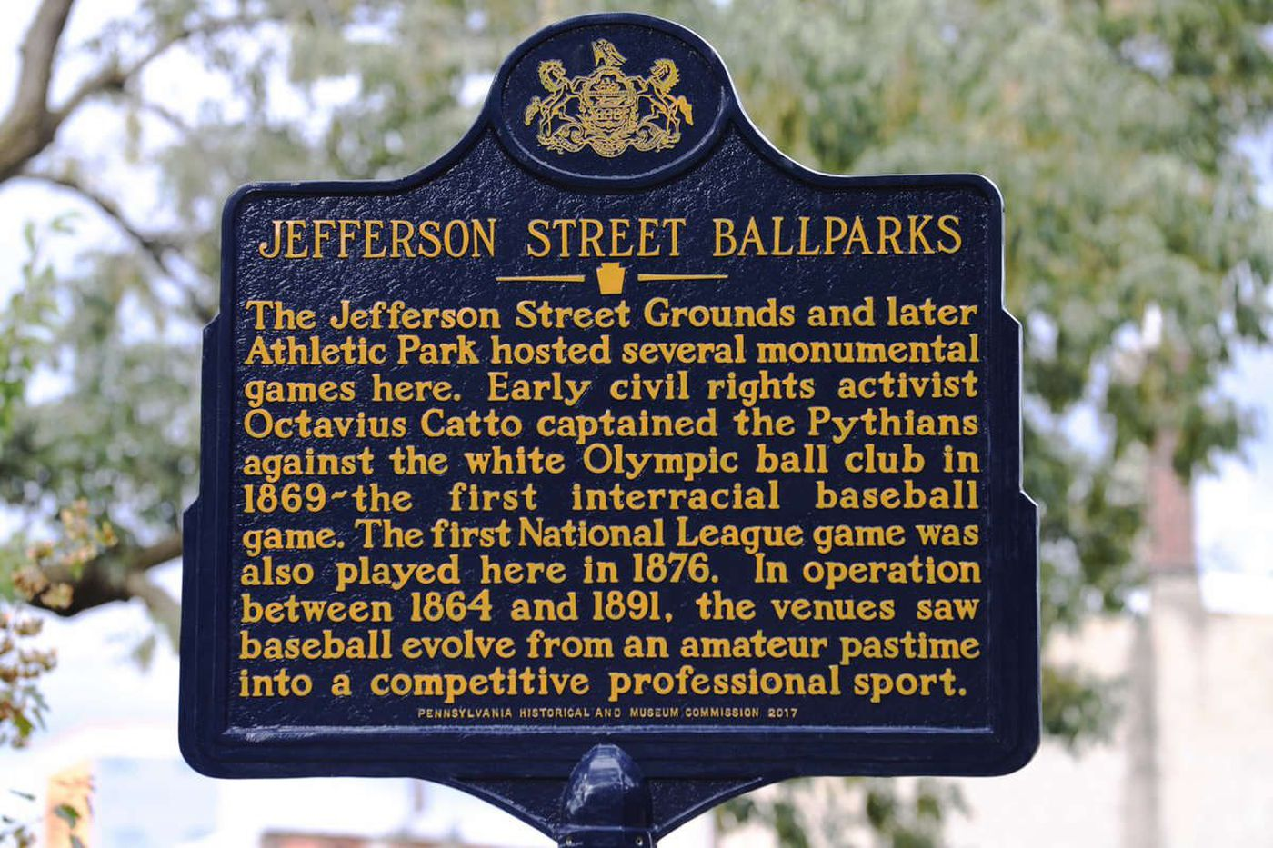 Honoring a Philly field where baseball brought races together