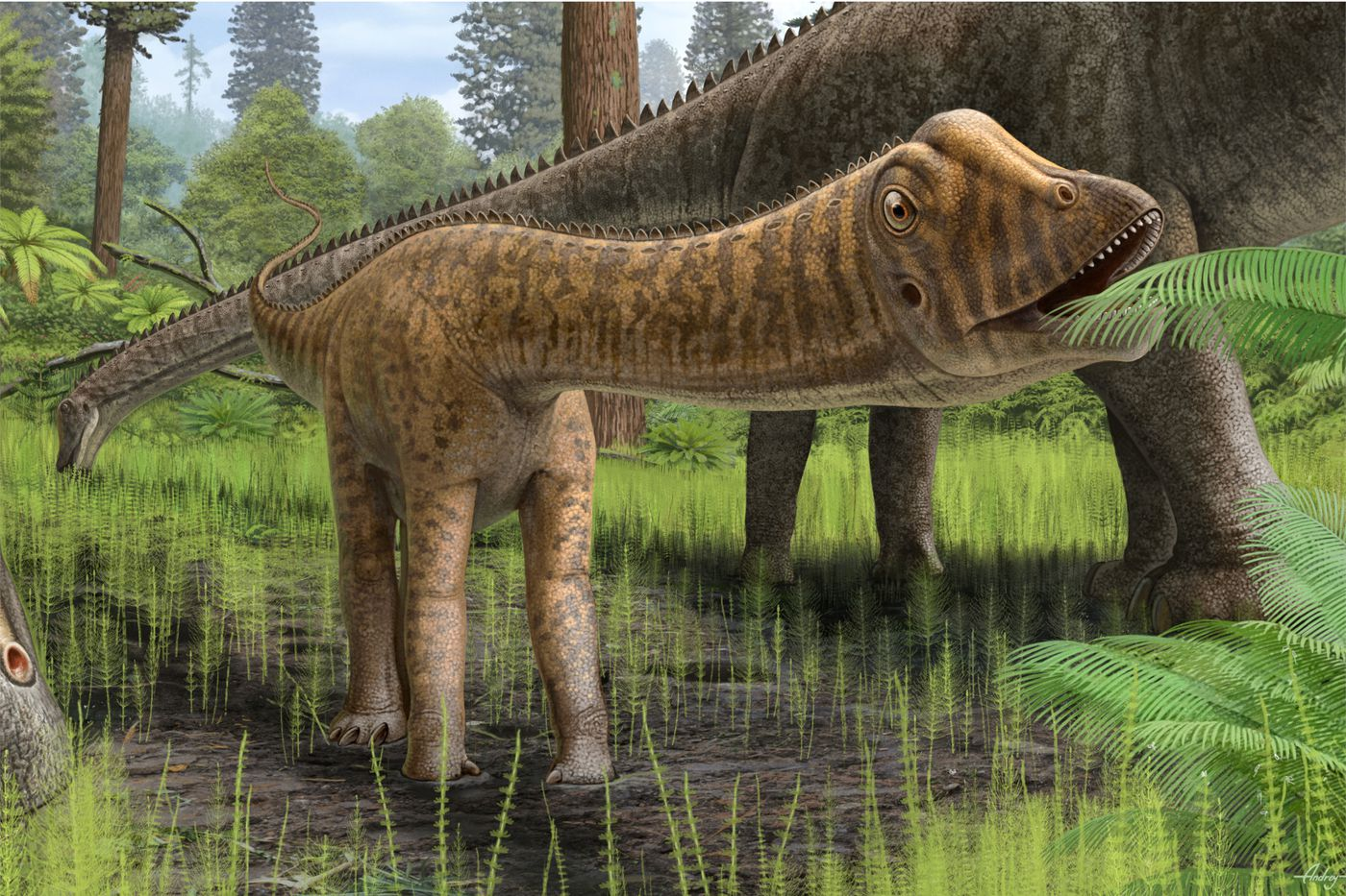 Guess what these young dinosaurs ate when their parents weren't looking