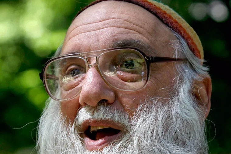 """Rabbi Arthur Waskow of the Shalom Center said """"global scorching"""" deserved a response. (CHARLES FOX / Staff Photographer)"""