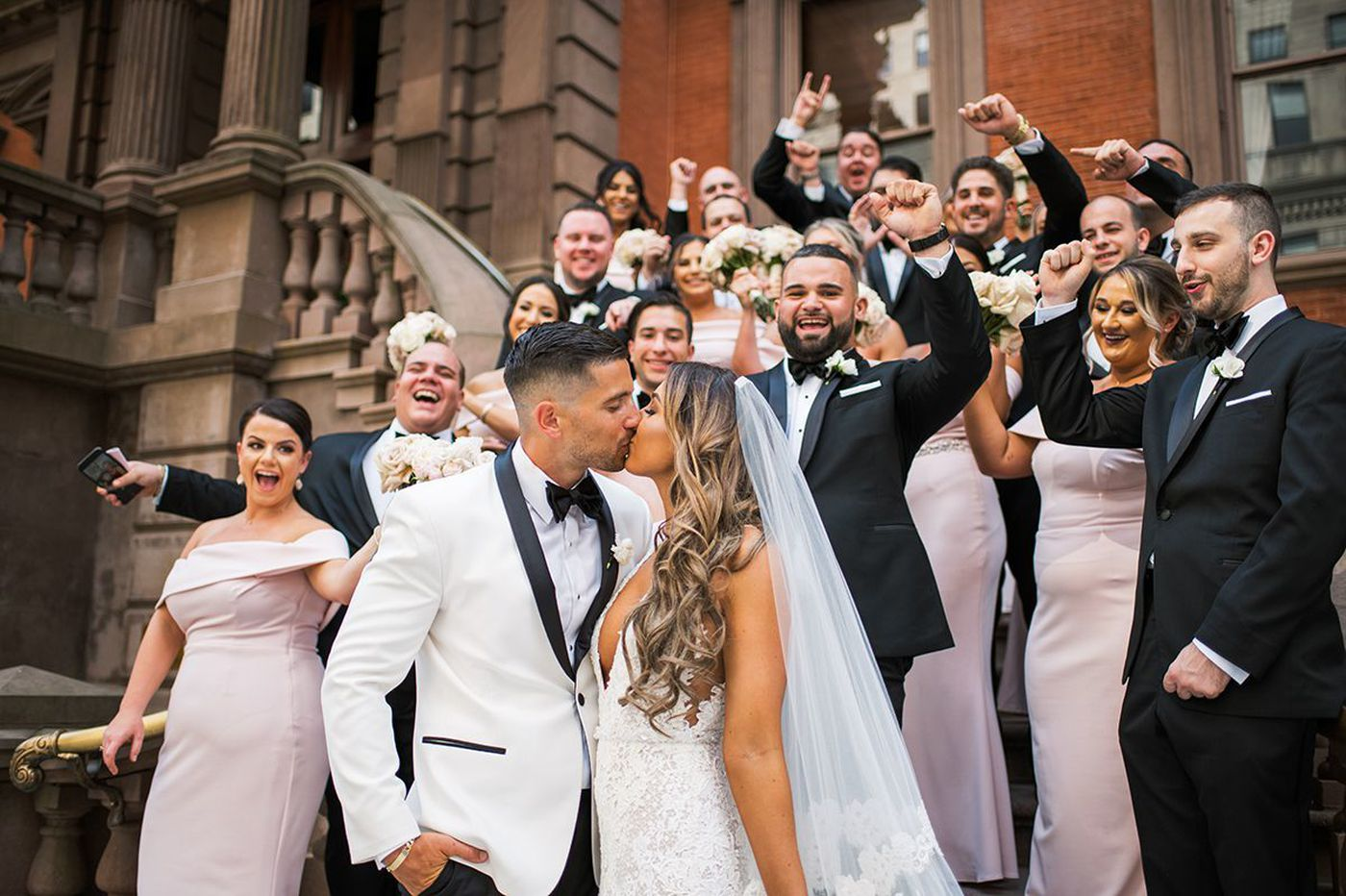 Philadelphia weddings: Courtney Morris and Niko Papatsiaras