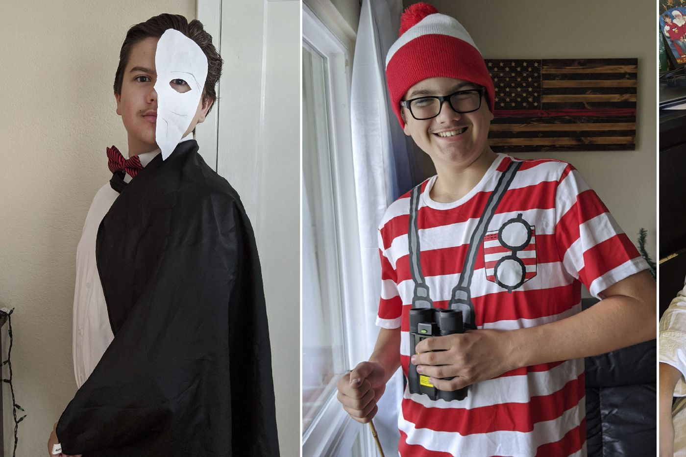 Who's Logan today? This San Francisco-area teen dons fun costumes to cheer his classmates.