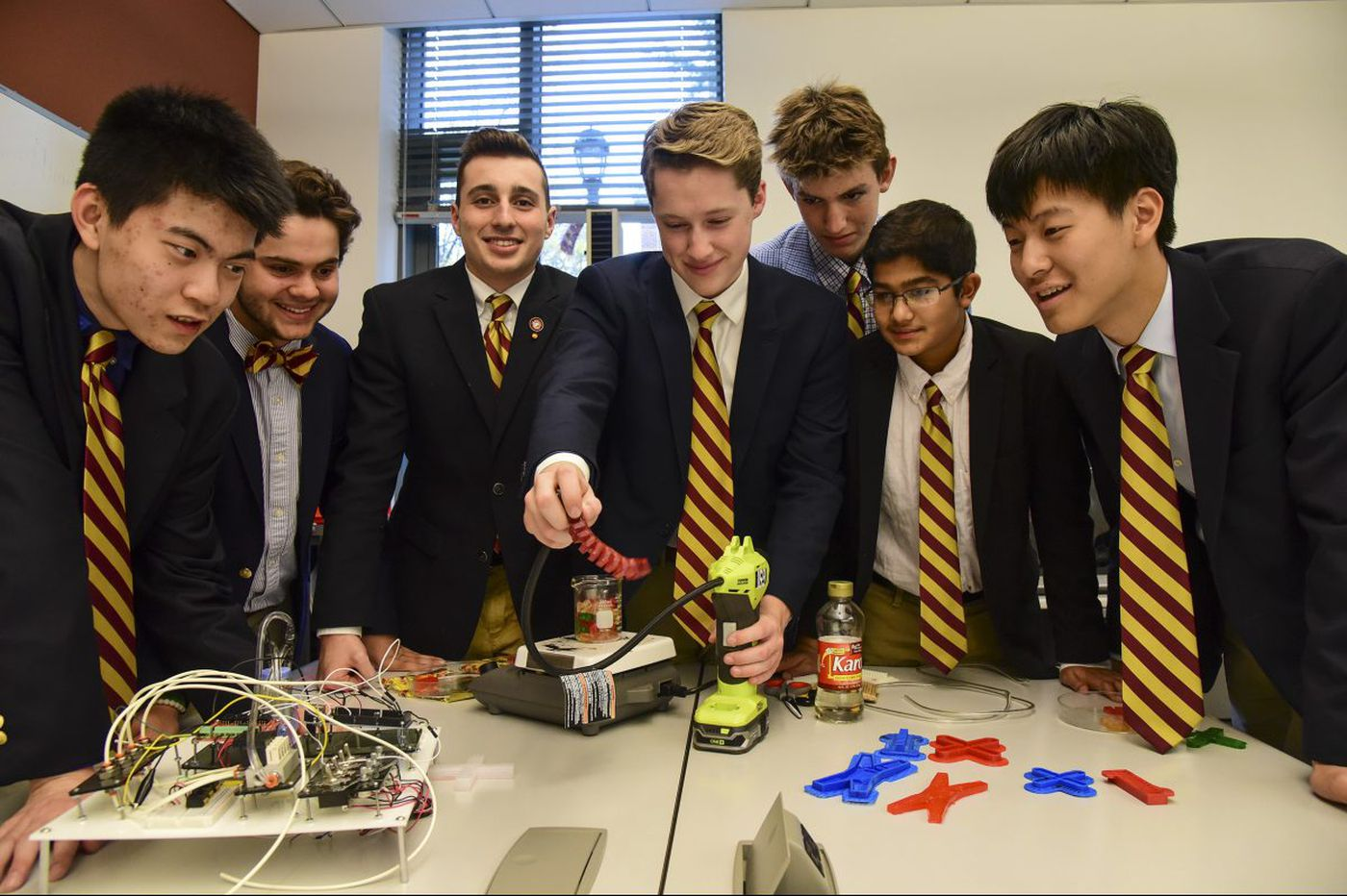 Haverford School students make soft robots that could be used in the body…and they taste good too