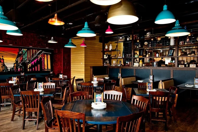 Dining room at Bomba Taco + Rum Bar at The Grove in Malvern.