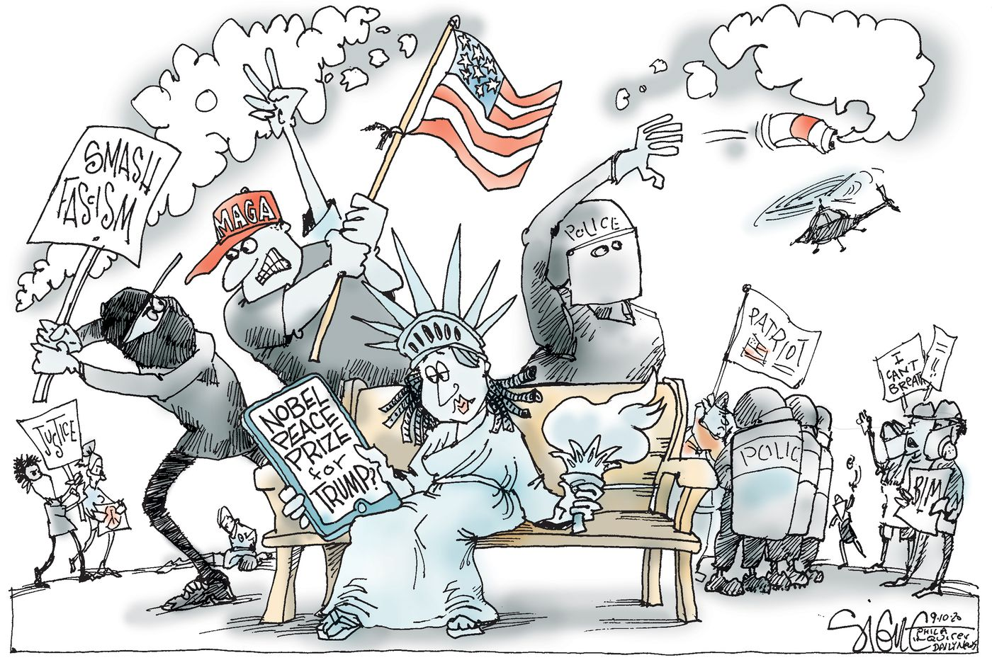 Political Cartoon: Nobel peace breaks out all over