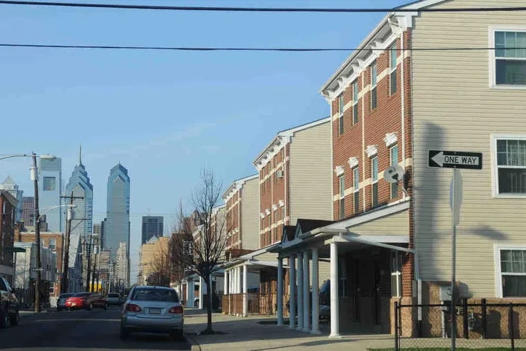 A view of South 16th Street in Point Breeze. The neighborhood had the largest increase in the median assessment of a single-family home between 2018 and 2020 compared with other neighborhoods in the city, according to an Inquirer analysis.