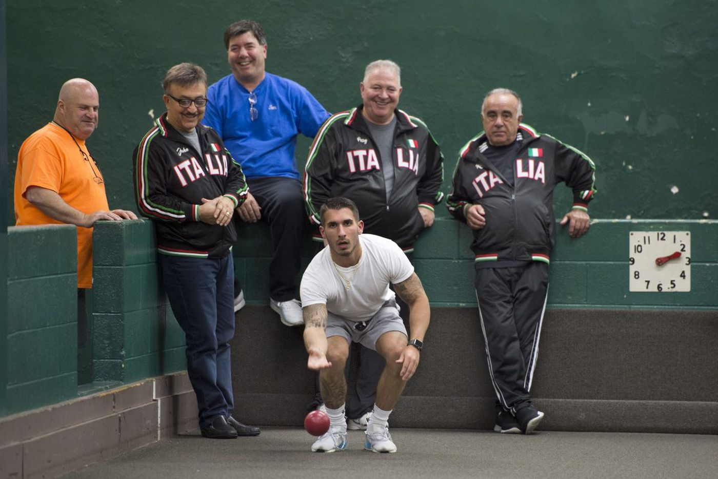 Rolling balls and busting chops: Regardless of class, bocce boys keep an ancient game current