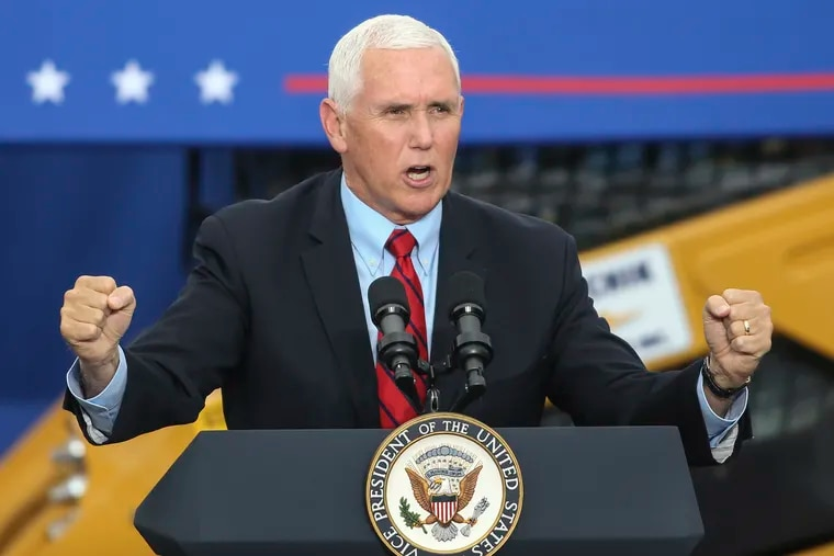 Vice President Mike Pence during a campaign event Tuesday in Exeter Pa.