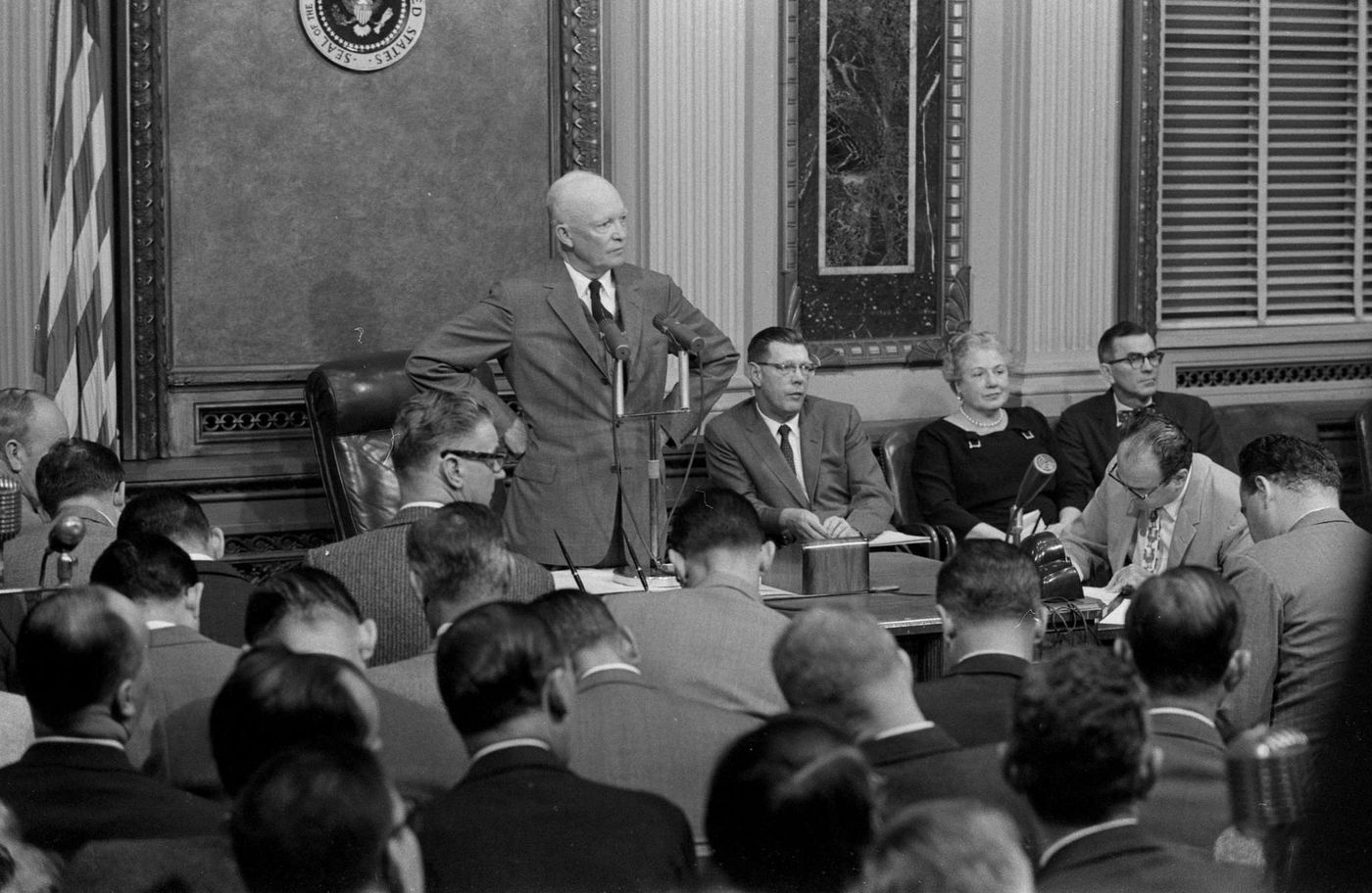 Eisenhower urged nation to seek balance