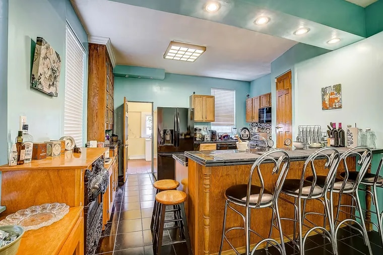 The kitchen of the house in the Spruce Hill section of West Philadelphia.