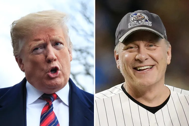 Curt Schilling (right) has been and remains a staunch defender of President Donald Trump.