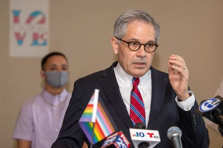 """Philadelphia District Attorney Larry Krasner did not get the endorsement of the city's Democratic Party, which voted Wednesday for an """"open primary"""" in the DA's race."""