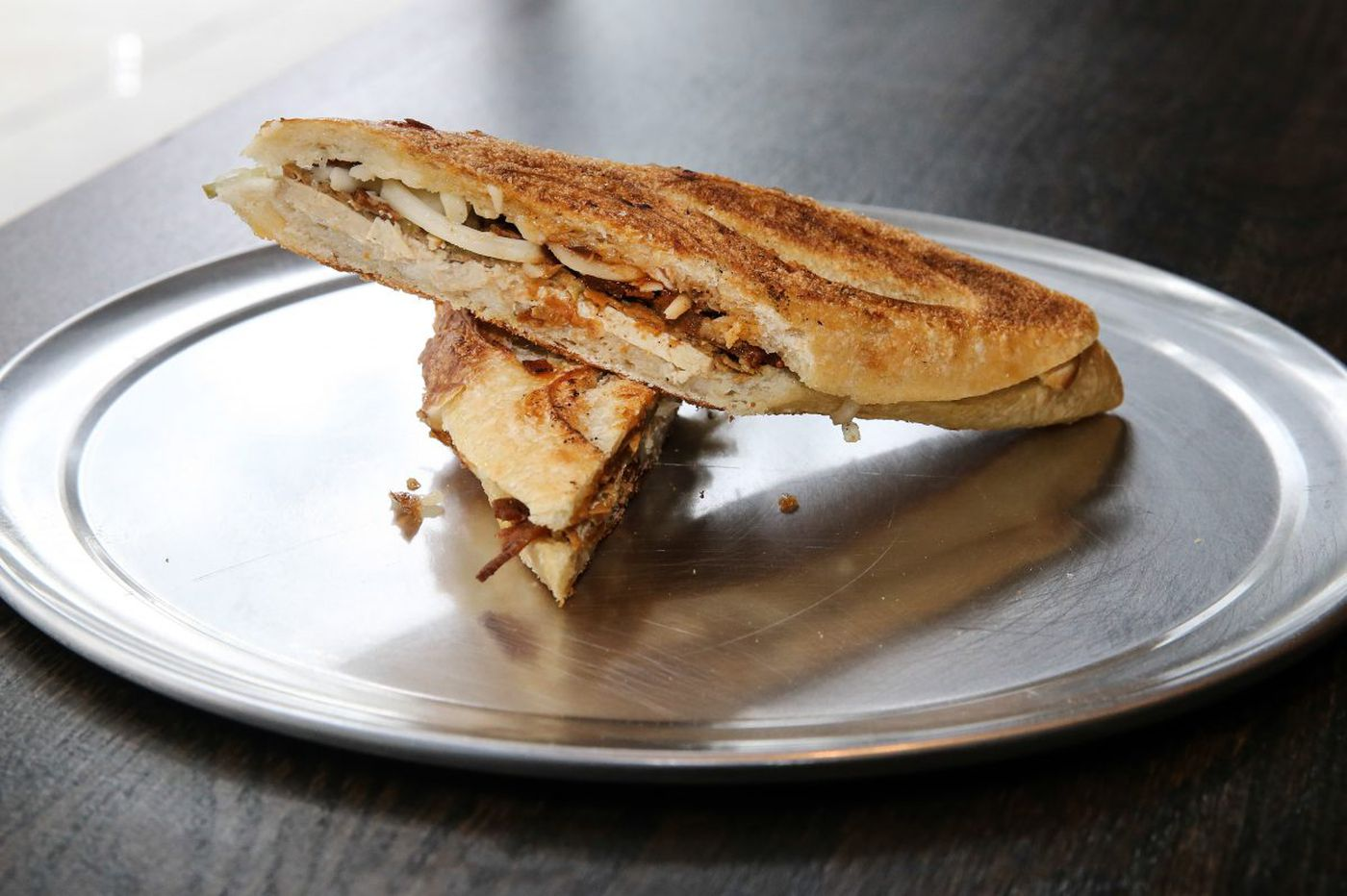 A smoky and salty Cubano, minus the meat