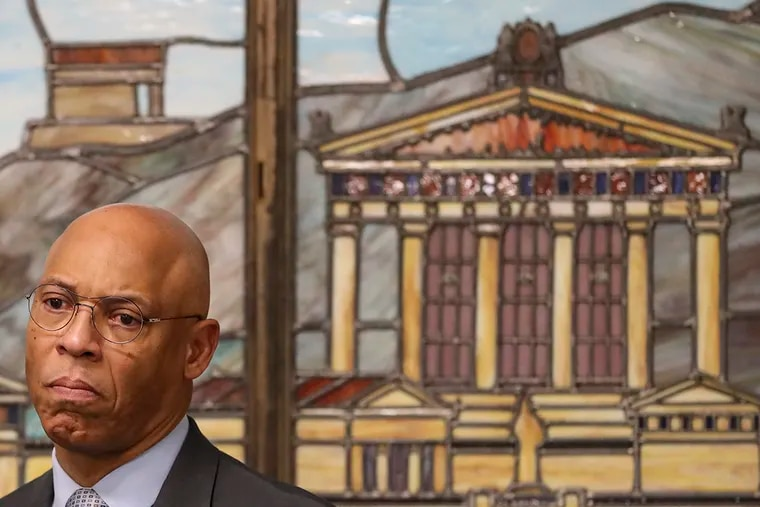 William R. Hite Jr., superintendent of the Philadelphia School District, at a news conference last month on the district's new environmental safety improvement plan.