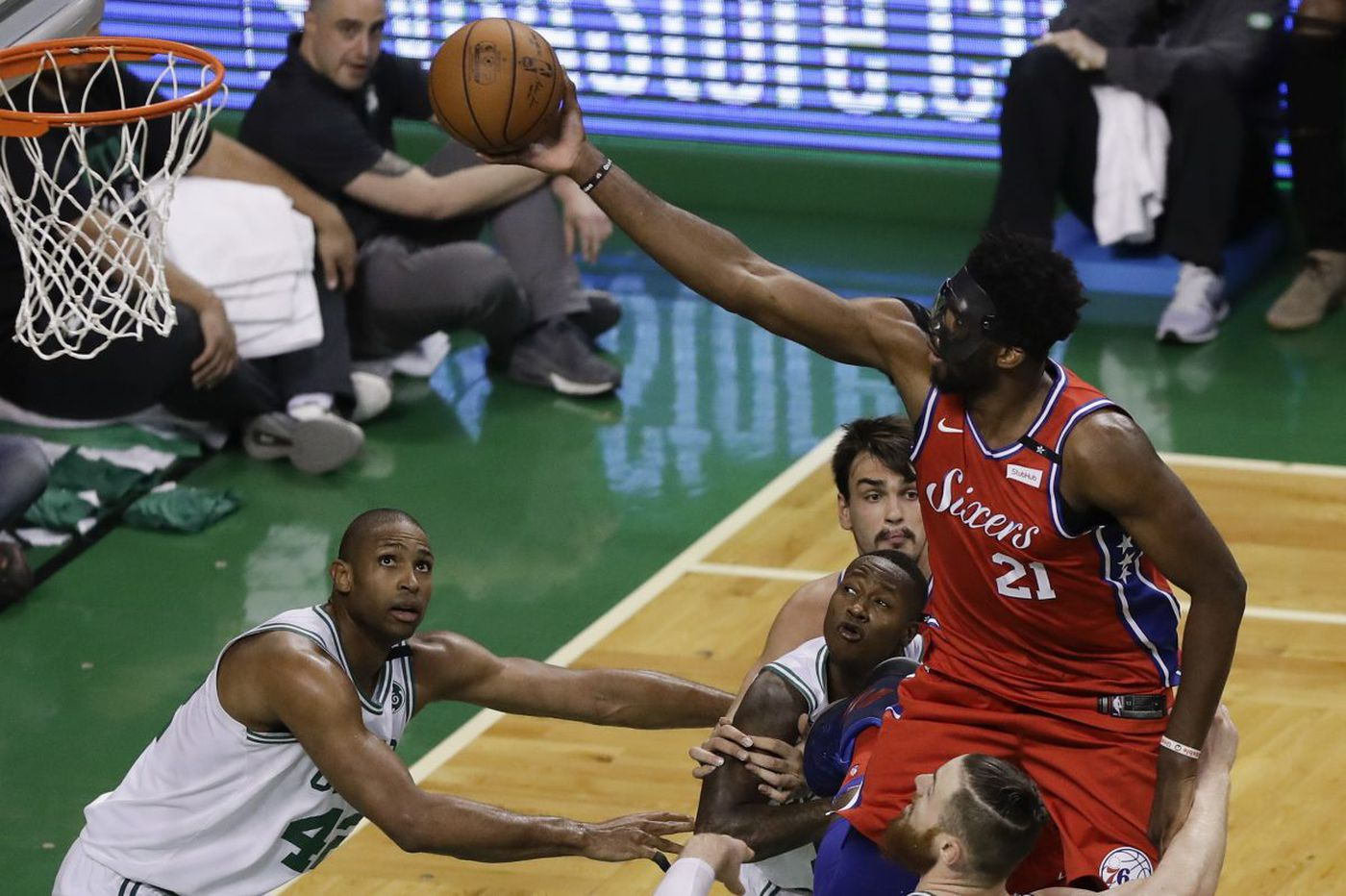 Celtics rough up Sixers, 117-101, in Game 1