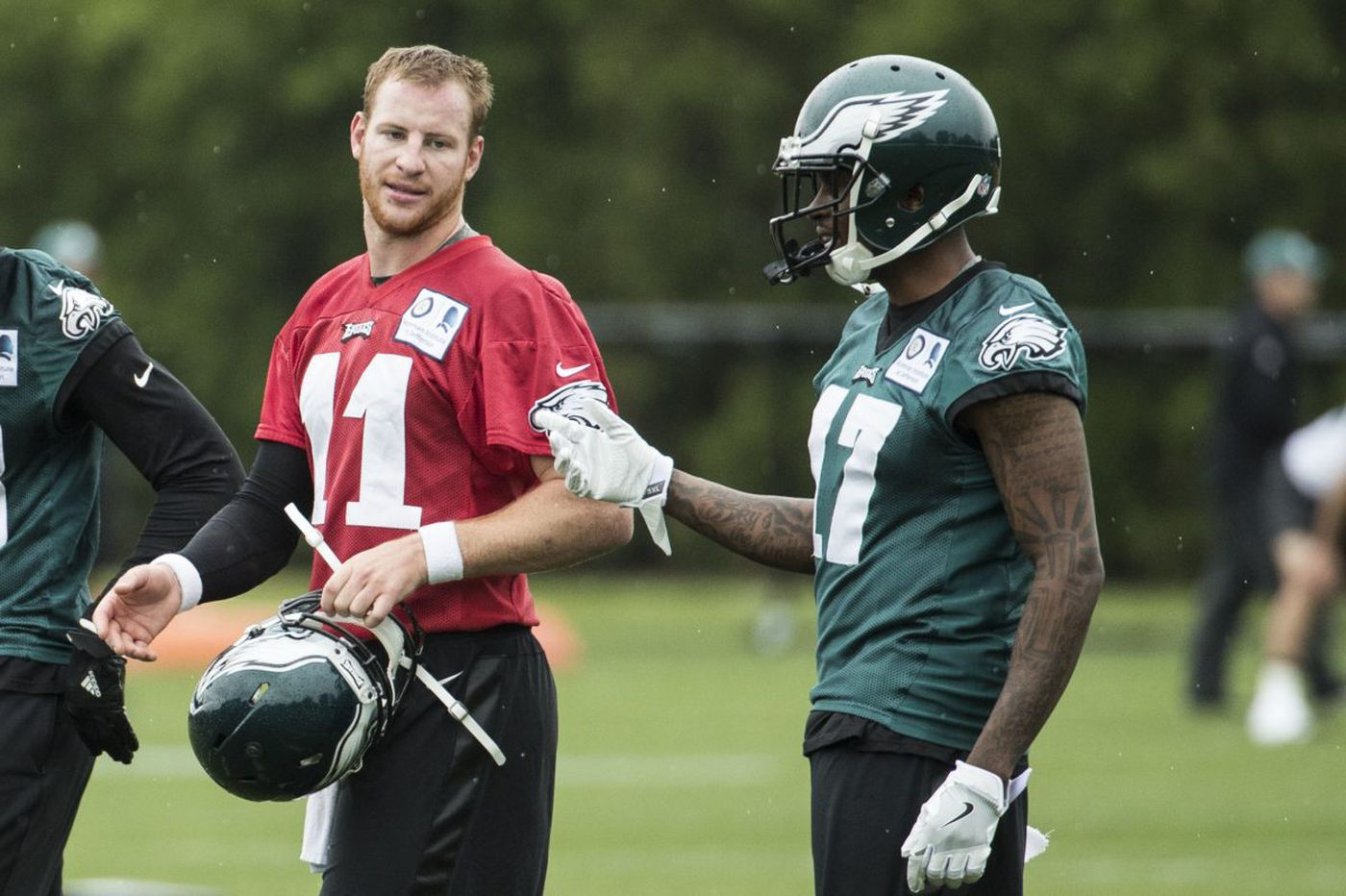 Eagles wide receivers are in North Dakota to work out with Carson Wentz