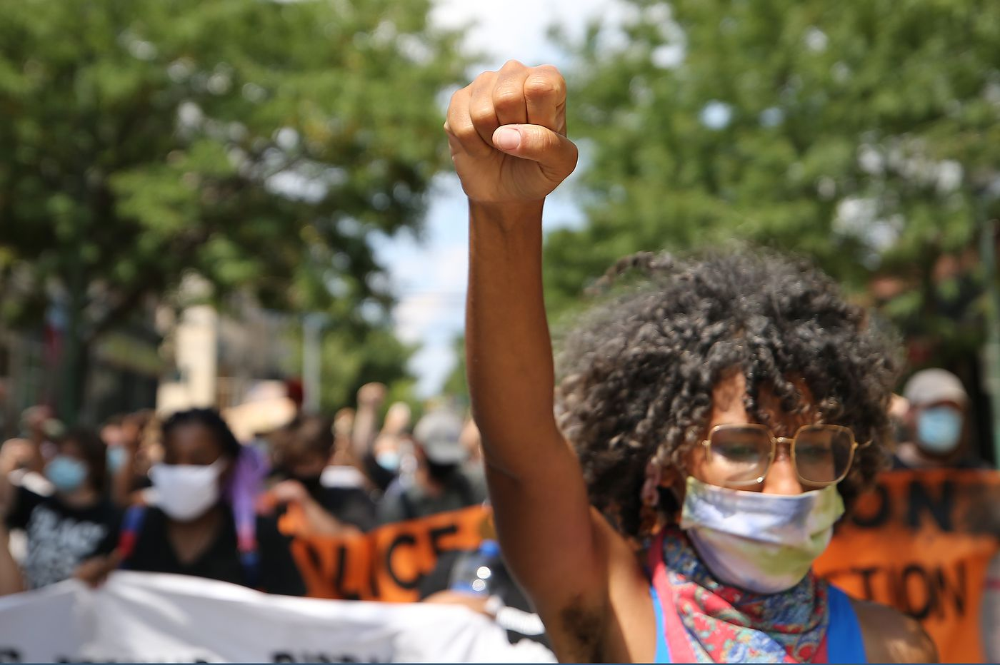 Community groups rally in West Philly to protest Penn, Drexel cops' presence at 52nd Street teargassing