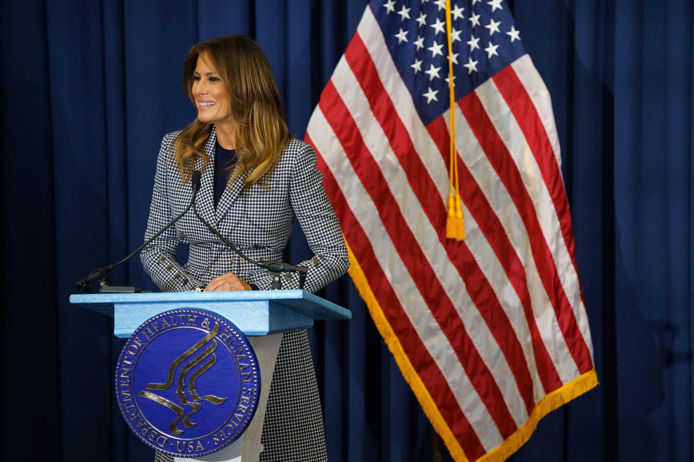 First lady Melania Trump visits Philadelphia to highlight opioid-exposed newborns