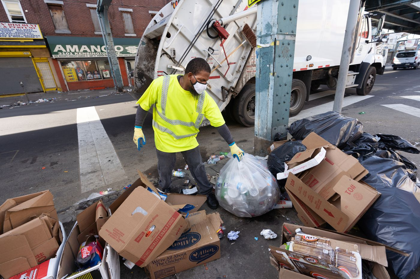 Philly says it's catching up on trash and recycling. But one neighborhood is fed up and renting trucks.