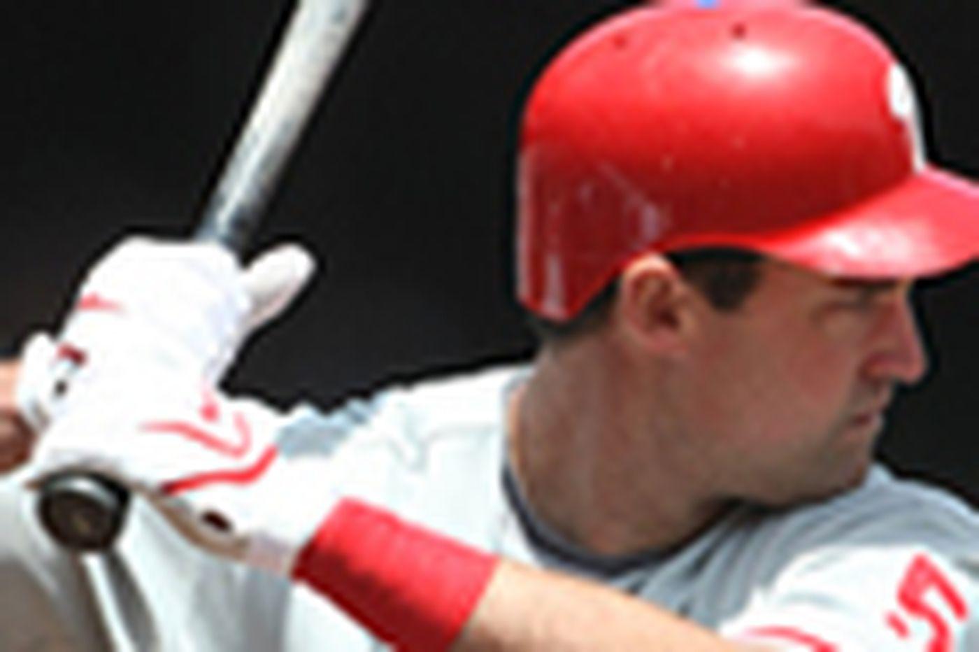 Phillies' Pat Burrell focuses on the present